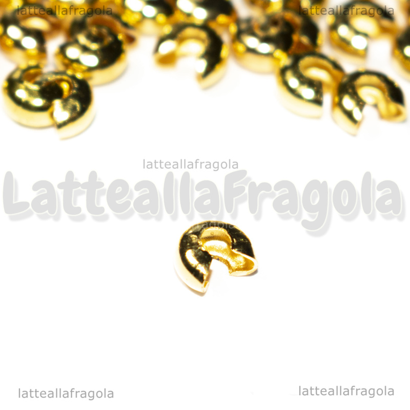 50 Coprischiaccini in metallo Gold Plated Plated 4mm