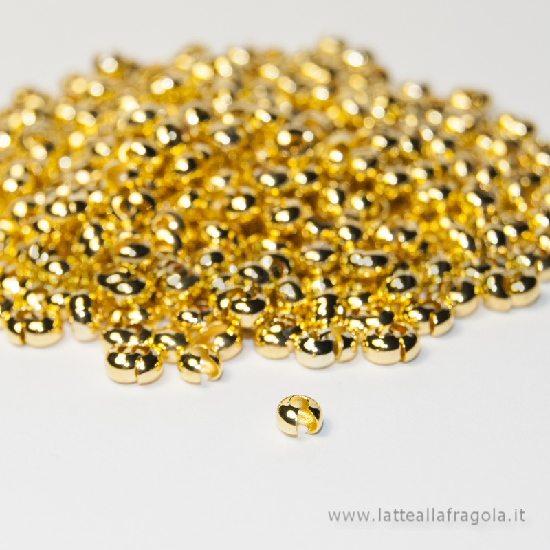 50 coprischiaccini Gold Plated 3mm