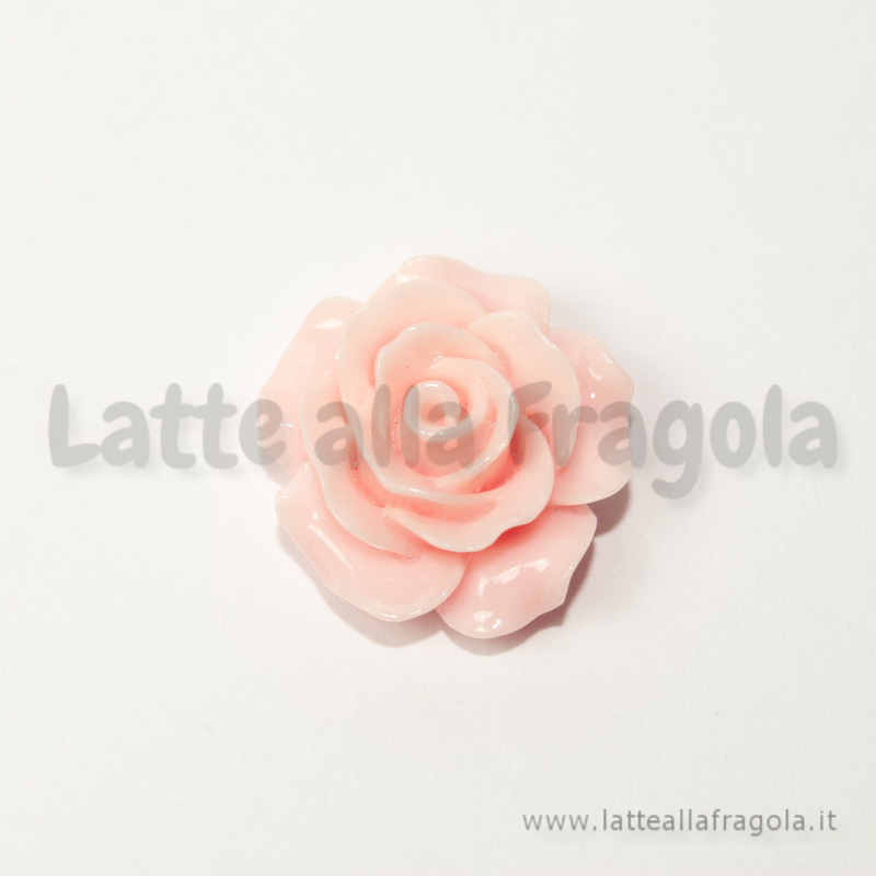 Cabochon Rosa in resina colore Rosa 19mm