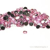 100 Strass in acrilico rosa tondi 4mm