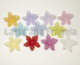 10 Fiori in Lucite colorata 28x7mm