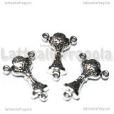 Crociera per rosari Calice double-face in metallo argento antico 22x15mm