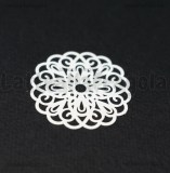 Filigrana tonda in rame smaltato bianco 25mm