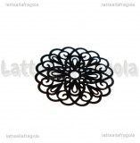 Filigrana tonda in rame smaltato nero 25mm