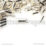 25 Capocorda in rame Silver Plated 9x3mm