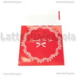 10 buste in plastica Especially for You rosso con bordo adesivo 10x7cm