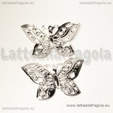 Filigrana Farfalla in metallo silver plated 32x22mm