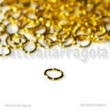 100 Anellini Ovali in metallo gold plated 5.5x4.3mm
