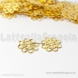 Filigrana in metallo gold plated 14mm