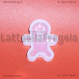 Stampo Gingerbread in silicone 22x28mm